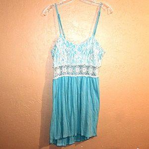 Lace & Crochet Mini Dress